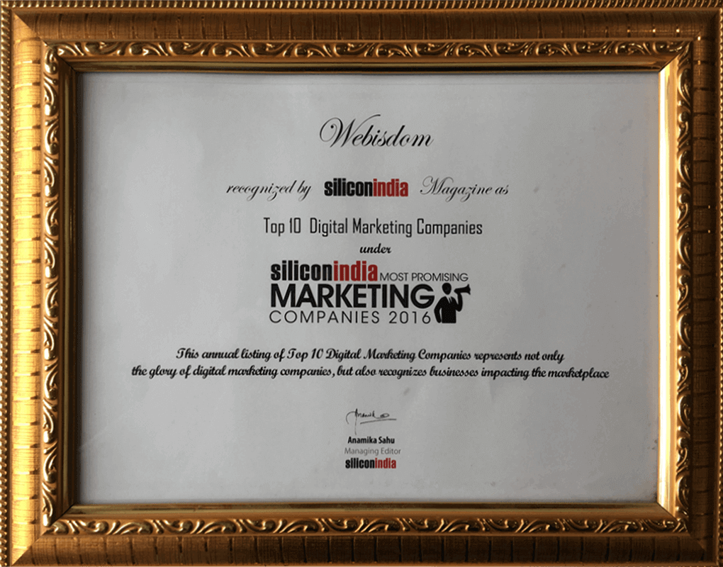 Best Digital Marketing Company in India - Webisdom